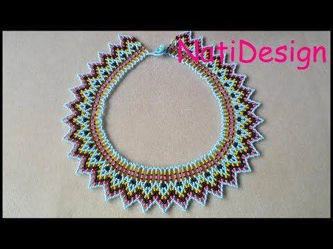 ea49479468d7 (9) COLLAR PICOS ESTILO HUICHOL - YouTube Crochet Earrings