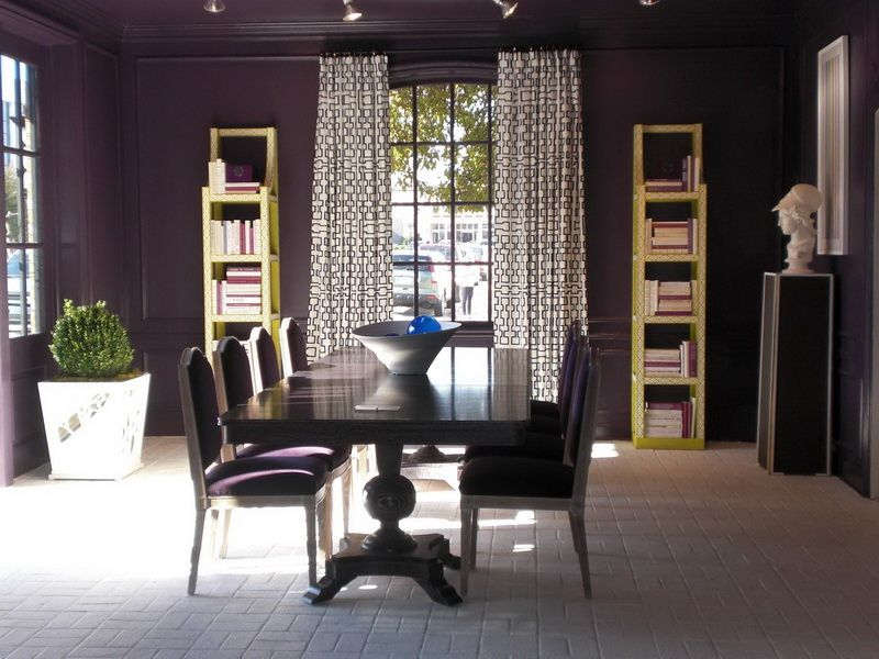 Indoor Dark Eggplant Color Scheme For Dining Room Interior Home Decorations Paint Palette Decorating