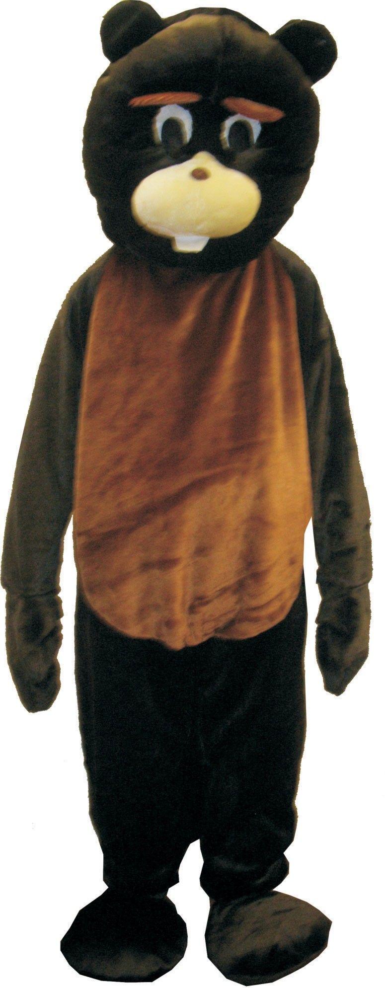 Adult beaver mascot costume set onesize mascot