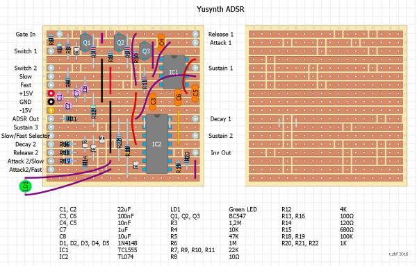 stripboard adaptions of Yusynth modules | SDIY in 2019 | Diy