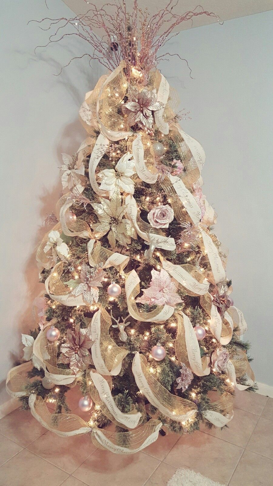 Rose Gold Christmas Tree Home Decor Organize Gold Christmas