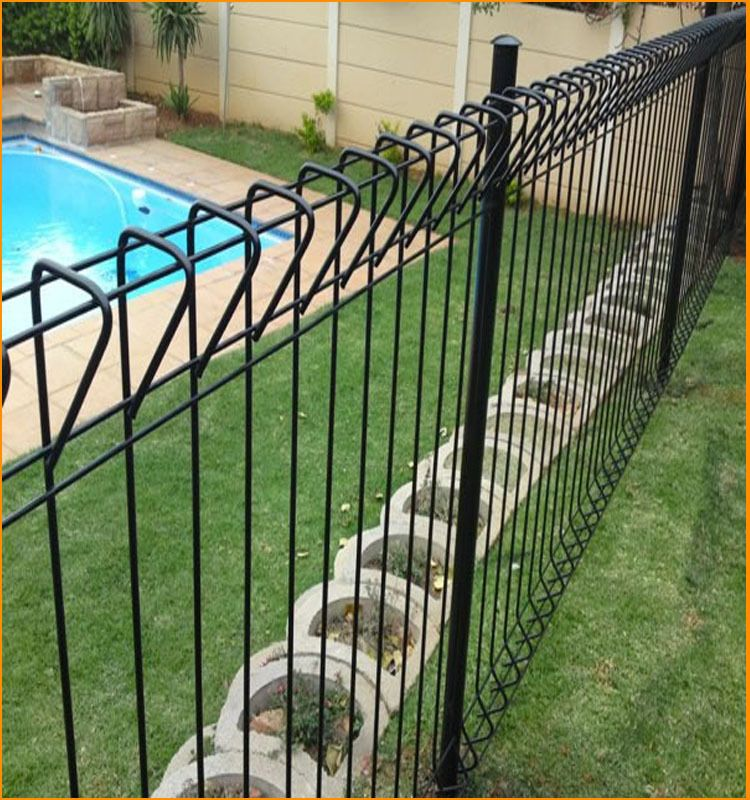 Black welded wire fence   Landscape   Pinterest   Welded wire fence ...