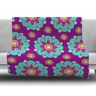 KESS InHouse Bright Blossoms by Sarah Oelerich Fleece Blanket