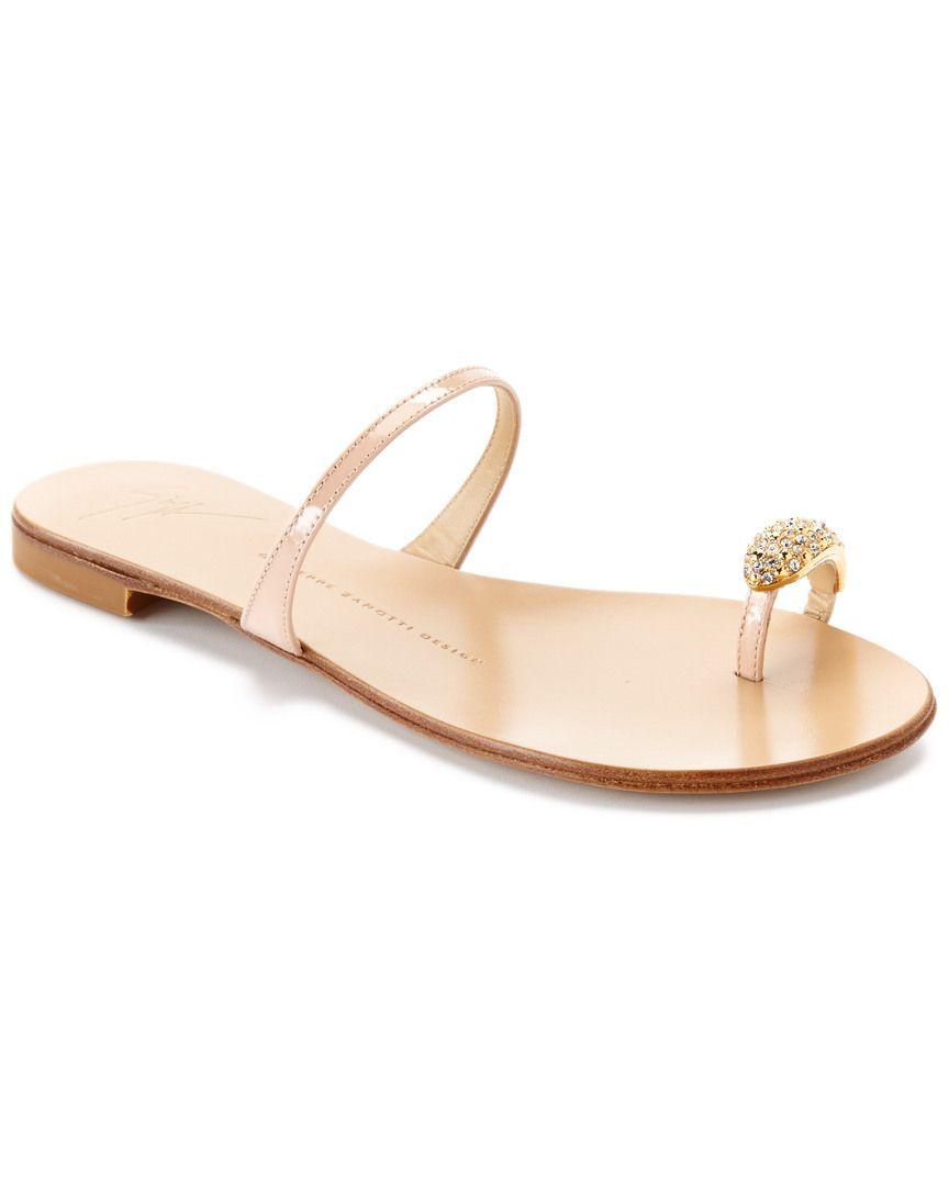 70e8f563821dd Giuseppe Zanotti Leather Crystal Toe Ring Sandal. Perfect for beach  wedding! #GiuseppezanottiHeels