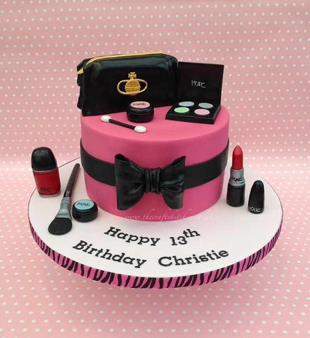 Makeup Bag Cake Design