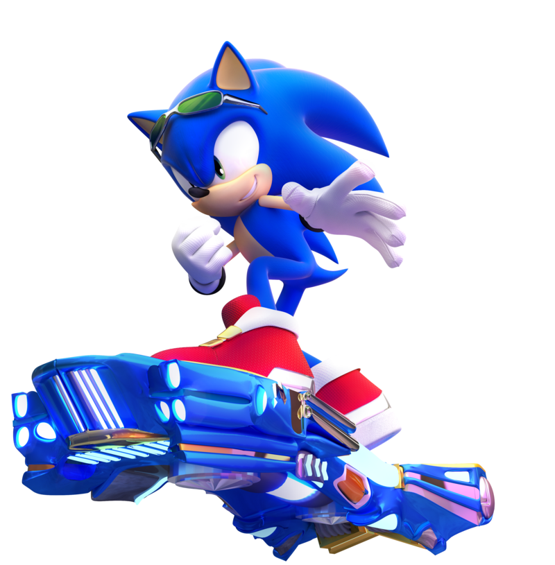 Sonic the Hedgehog - Sonic Riders - 'Oh, falling free in the wind' (Sonic Free Riders/Free quote)