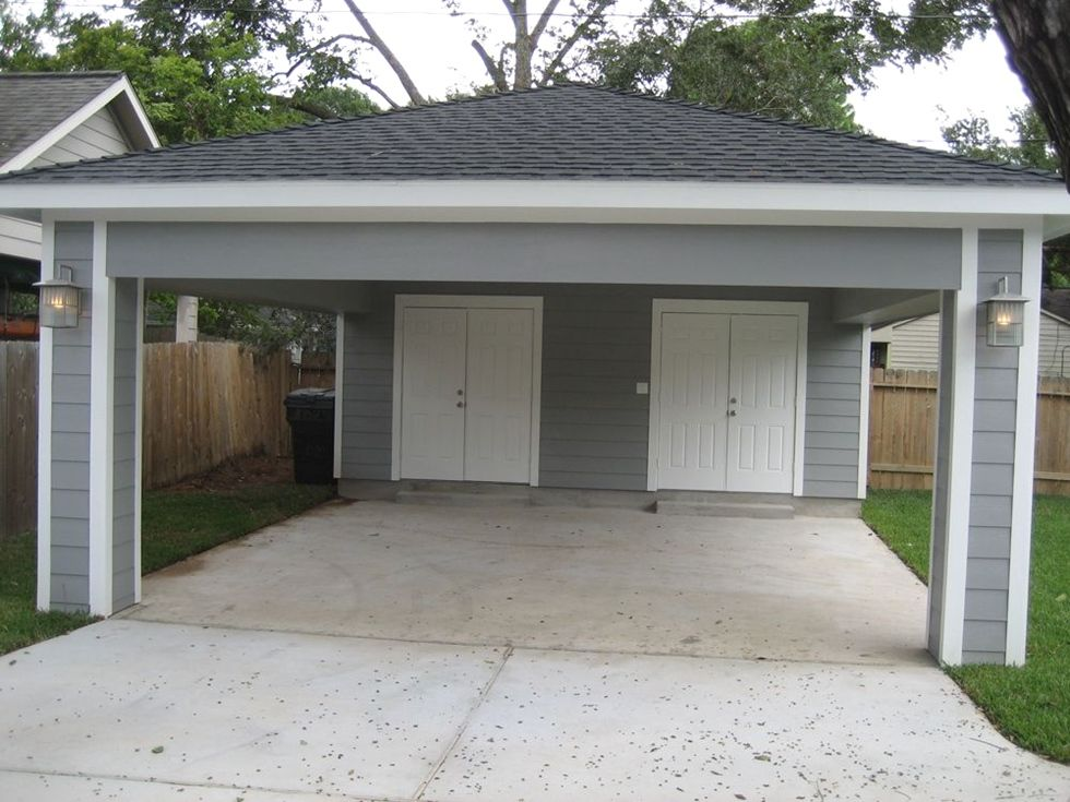 remodeling garage into home gym Carport addition