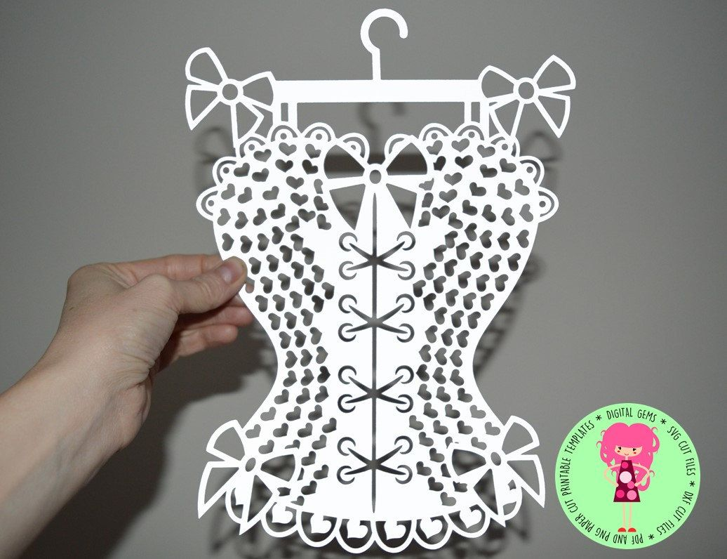 Burlesque Corset Paper Cut Template SVG / DXF Cutting File for ...