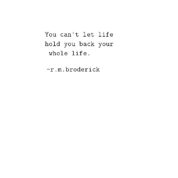 You can't. [r.m. broderick]