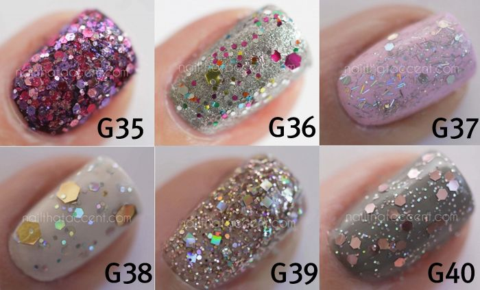 [OPI] Spotlight on Glitter Collection 6pc Set (G35~G40)1