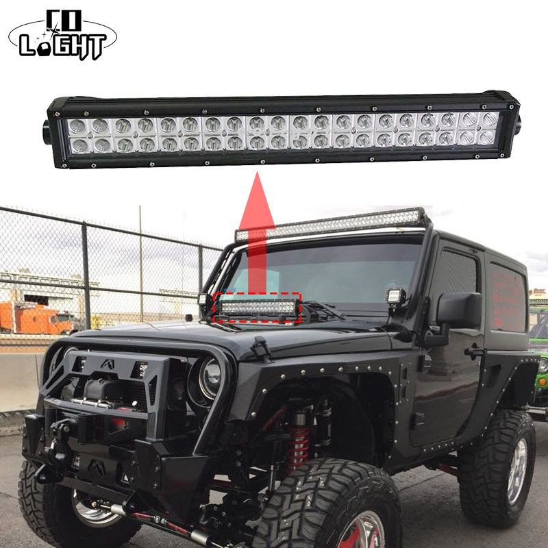 22inch 120w dual row 22 led light bar offroad combo beam cree 22inch 120w dual row 22 led light bar offroad combo beam cree chips driving lights sciox Choice Image