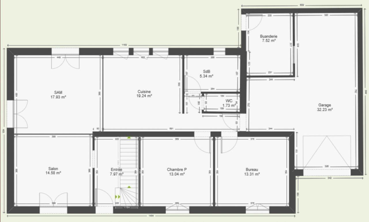 Plan Maison Plain Pied 200m2 Nouveau Maison 130m2 Plan Plain Pied