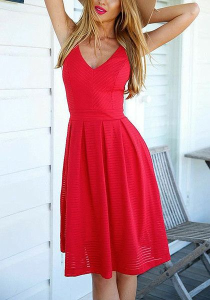 this red v neck