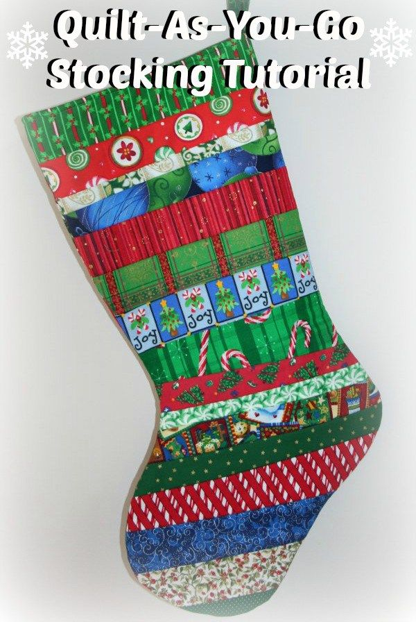QuiltAsYouGo Stocking Tutorial QUILT'S ECT Pinterest Unique Quilted Christmas Stocking Pattern