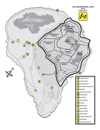 Map Of Jurassic Park Jurassic Park Movie Jurassic Park World Jurassic Park
