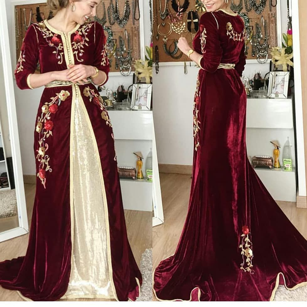 قفطان حرير مغربي ازياءمغربية تكشيطة مغربية ازياء تفصيل تصميم خياطة عروس دبي الامارات العين ابوظبي ال Moroccan Dress Kaftan Designs Caftan Dress