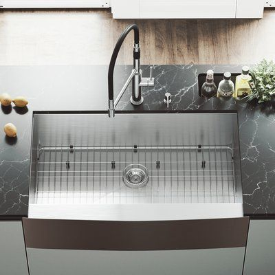 Vigo Camden 36 L X 22 W Farmhouse Kitchen Sink With Faucet In 2020 Farmhouse Sink Kitchen Apron Sink Kitchen Single Bowl Kitchen Sink