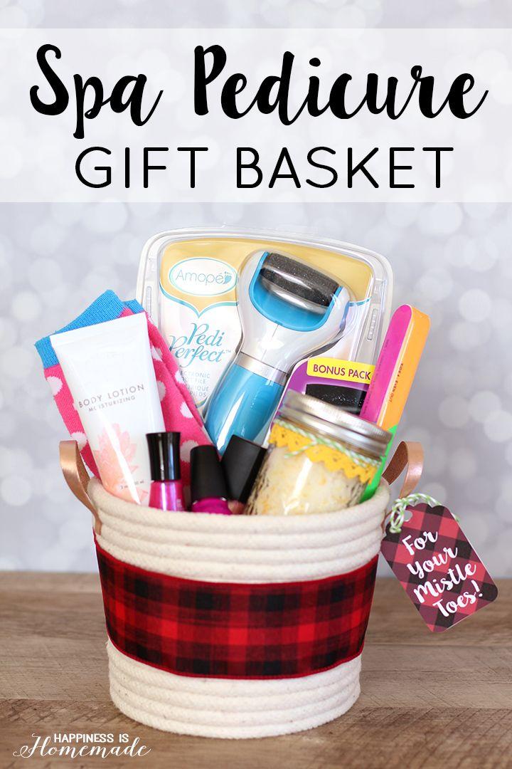 Spa gift basket lemon lime coconut scrub great last for Homemade christmas gift basket ideas