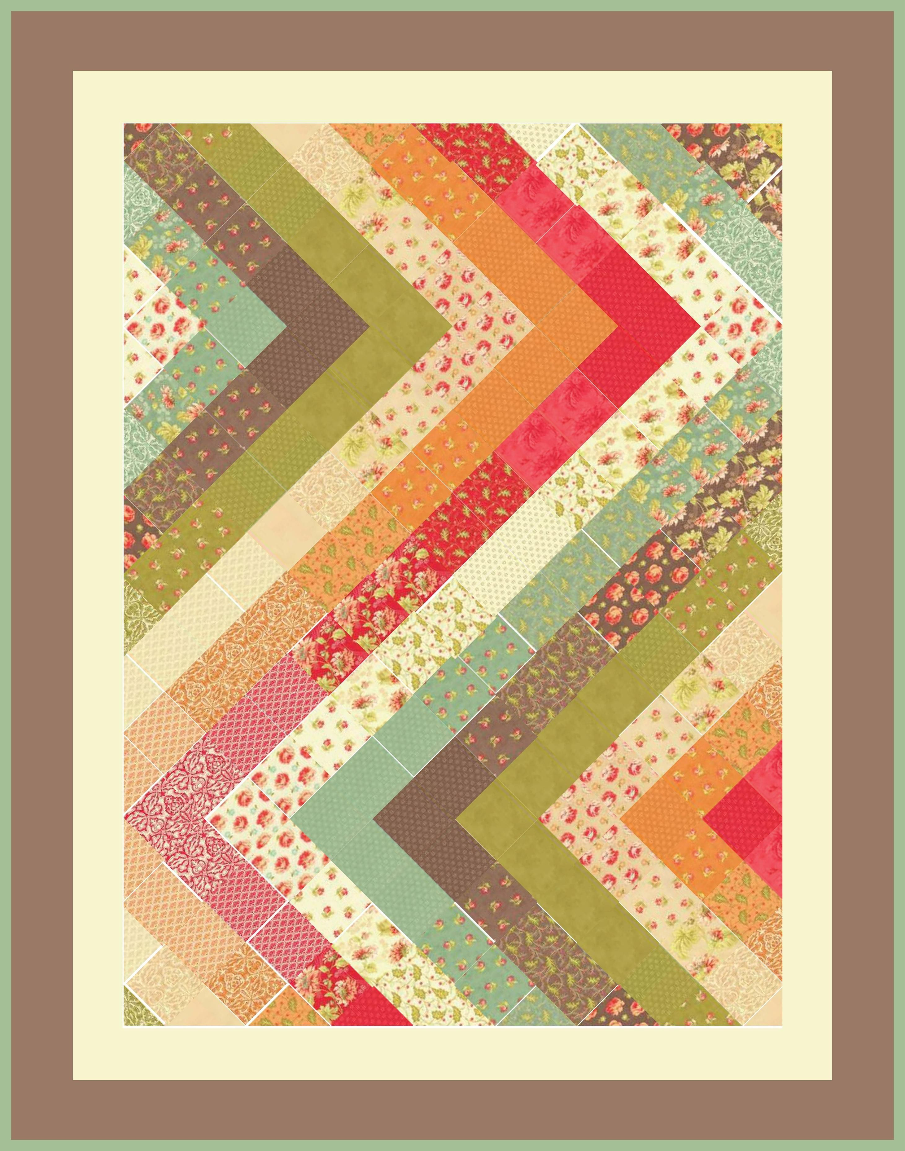 zigzag charms squares with just 2 triangles at the zigs from IMGUR ...