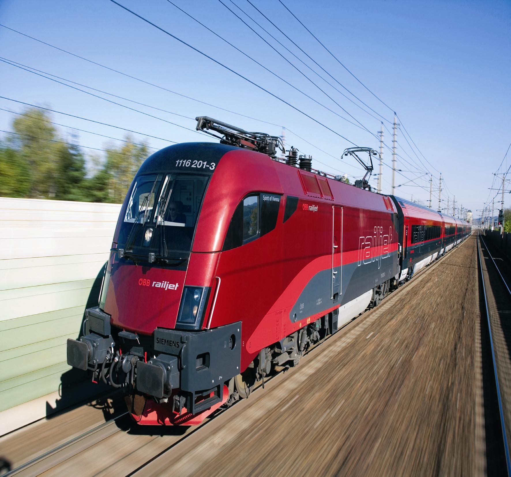 High speed train obb railjet by spirit design consulting for Design consulting services