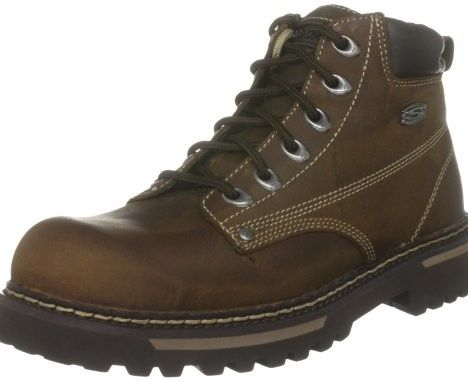 Skechers Men's Bully II Padded Collar Boot, Dark Brown,