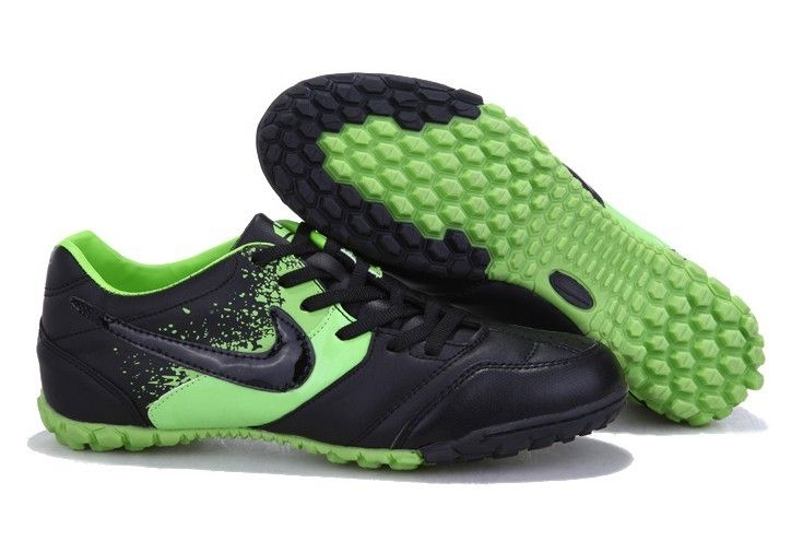 Nike5 Bomba Finale TF Mens Astro Turf Soccer Shoes(Black Green)
