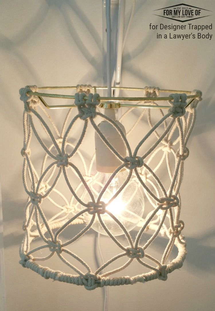 Diy macrame lamp shade tutorial nudo pantalla y hilo diy macrame lamp shade tutorial aloadofball Image collections