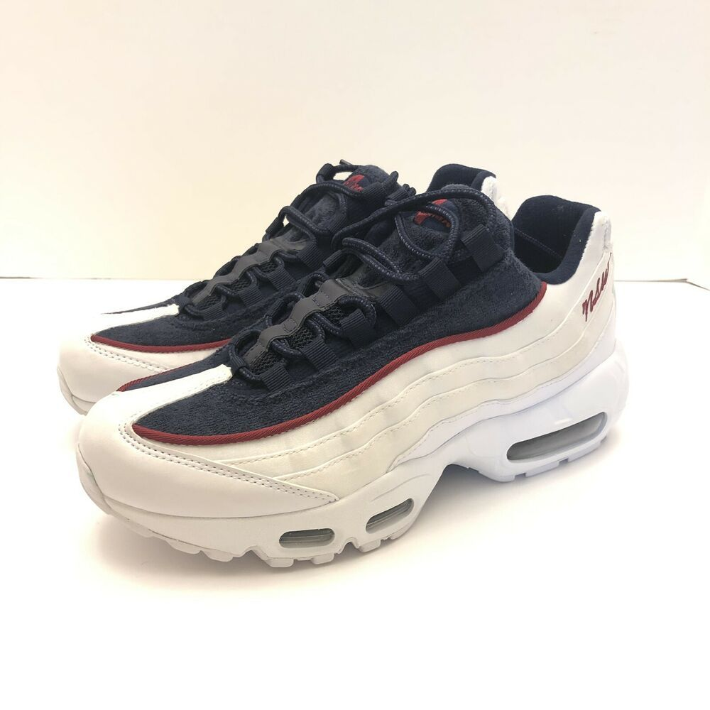 3f9cc3317cca5 Nike Air Max 95 LX Shoes White Blue Red Crush Womens Size 8 AA1103 ...