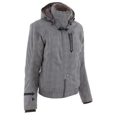 Manteau long de cuir pour femme