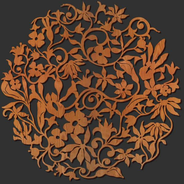 Wood Medallion Wall Decor wall art - wall decor - laser cut wood wall decorations | lasercut