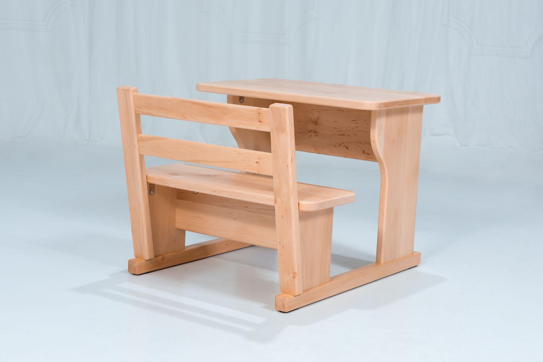 Montessori Tisch Und Sitzbank Mit Lehne Etsy Step Stool Furniture Home Decor