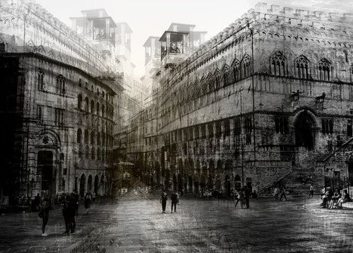 Walking in the Square by Carmine Chiriaco'