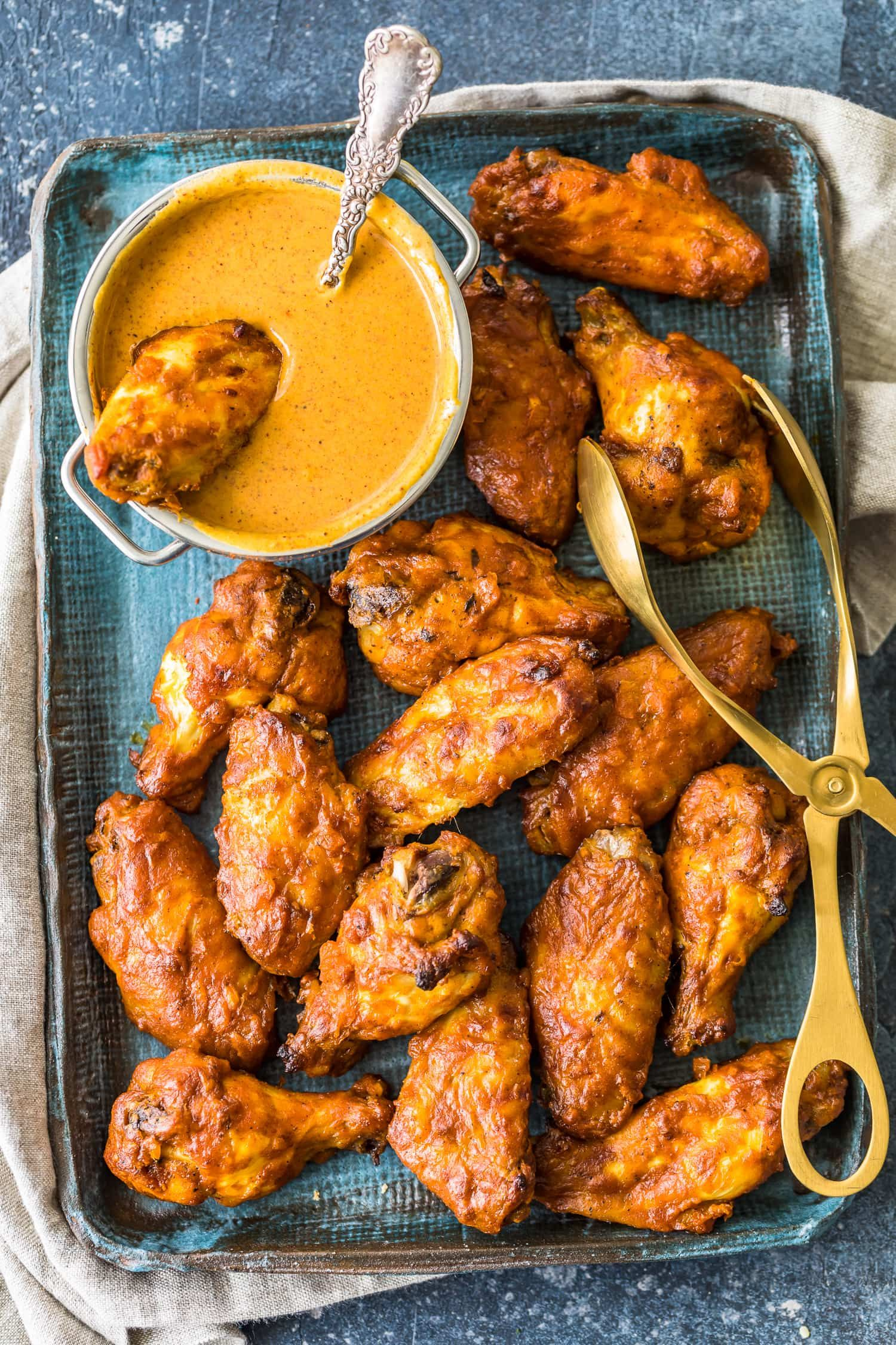 Chicken tikka masala baked wings are the perfect fusion