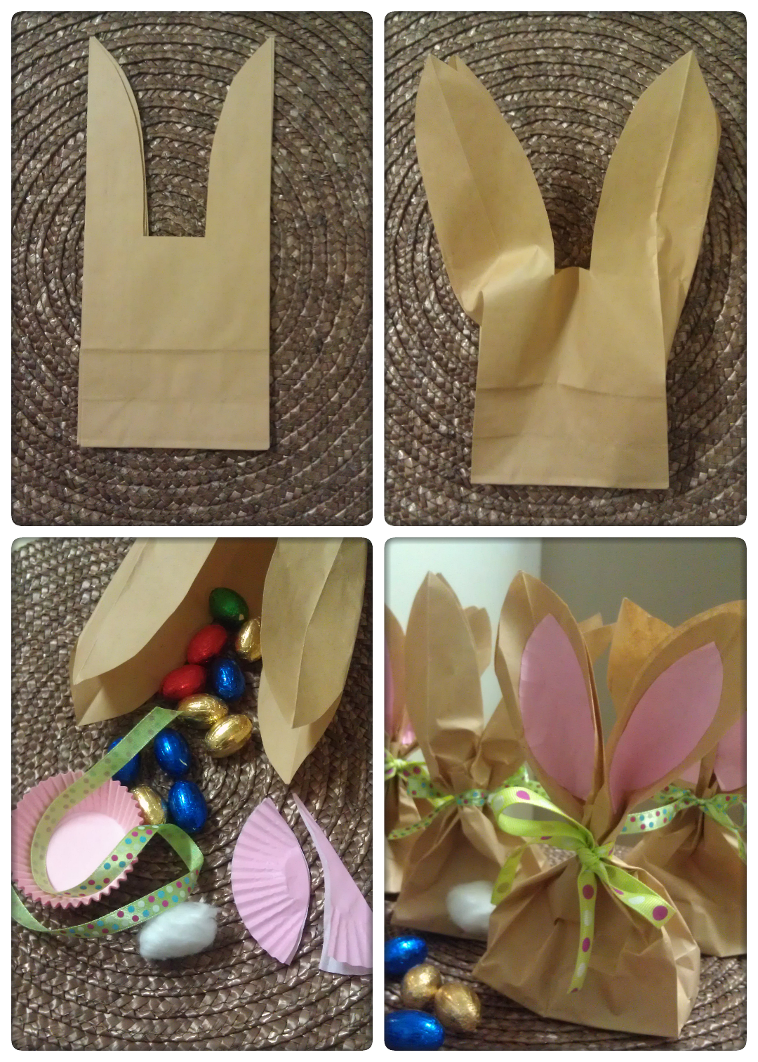 Easter bunny treat bags so so easy craft general pinterest easter bunny treat bags so so easy negle Image collections