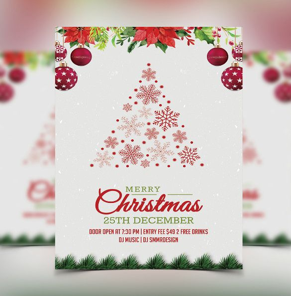 Christmas Party Invitation Template Powerpoint  Christmas