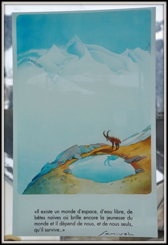 Reproduction D Une Aquarelle De Samivel Mont Blanc Chamonix