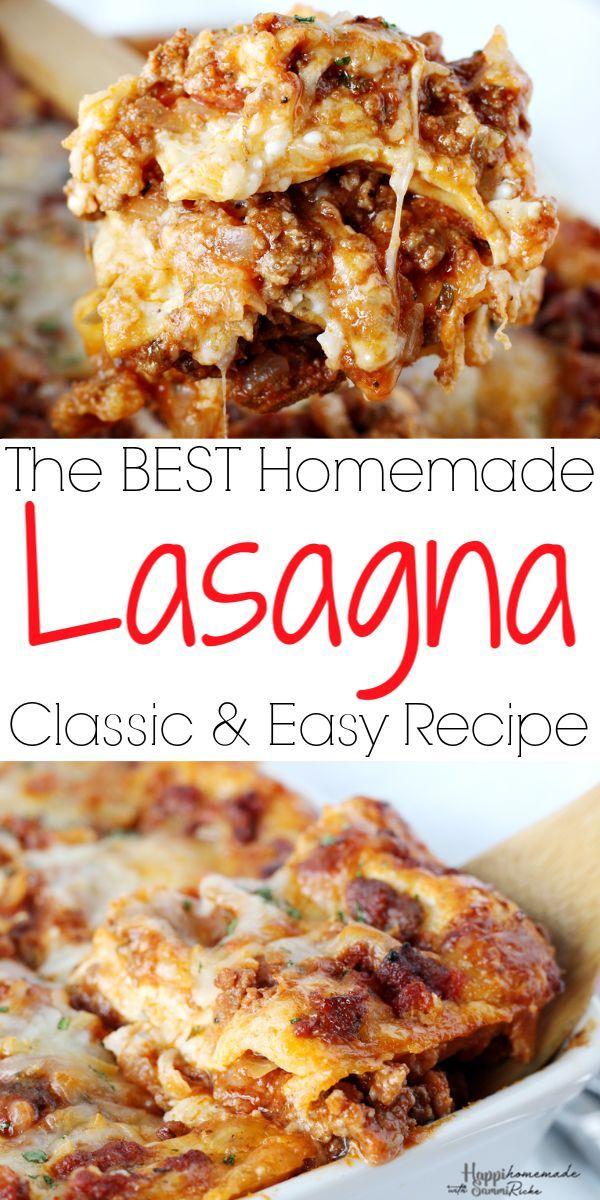 Easy Homemade Lasagna Recipe Homemade Lasagna Easy Homemade Lasagna Homemade Lasagna Recipes