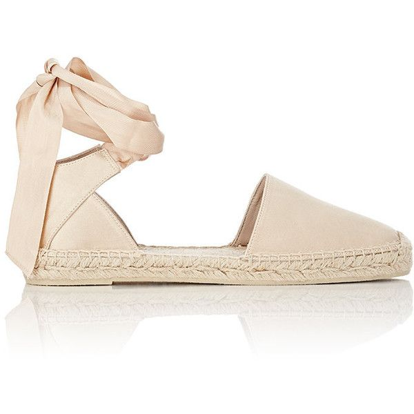 5a23af0011c Saint Laurent Satin Ankle-Wrap Espadrilles ( 445) ❤ liked on Polyvore  featuring shoes
