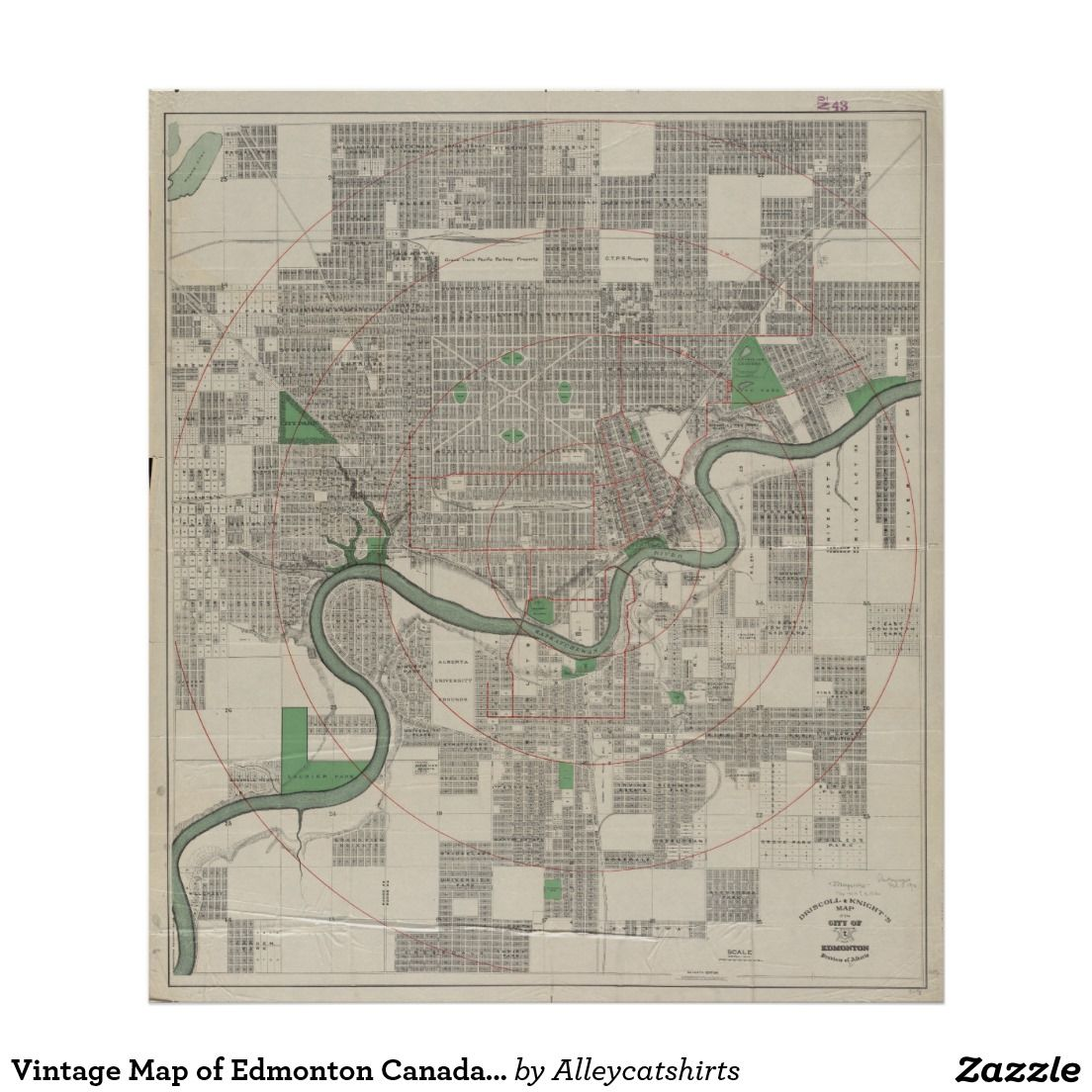 Vintage map of edmonton canada 1912 poster vintage map posters vintage map of edmonton canada 1912 poster gumiabroncs Images