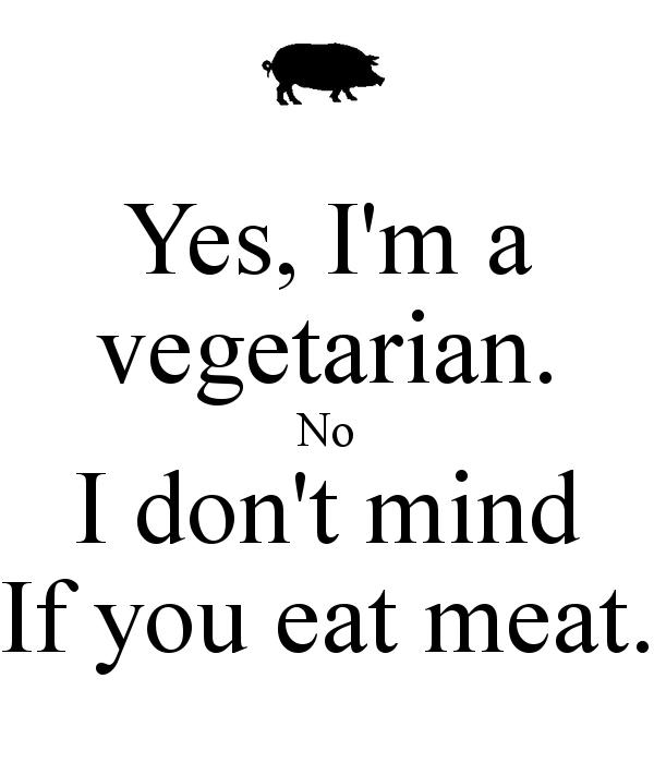Bildresultat för yes im vegetarian