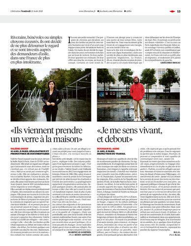 Libération, journal numérique du 21 août 2015