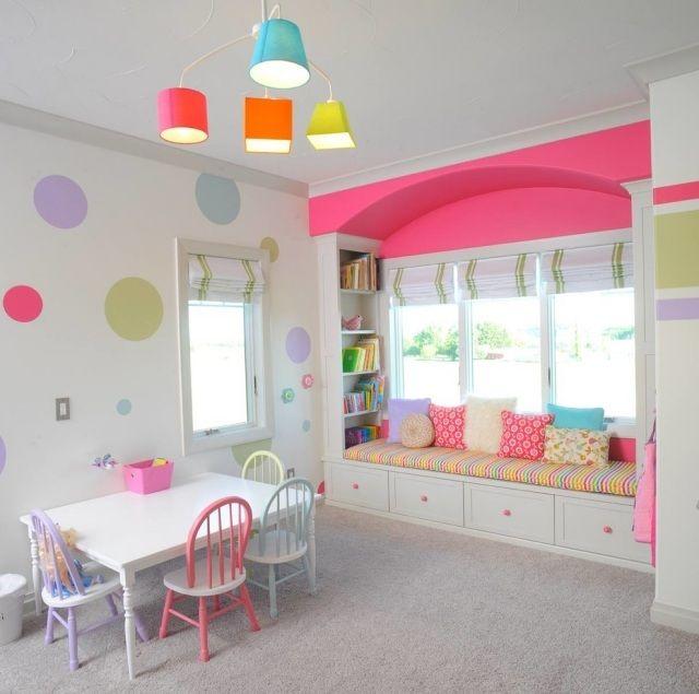 Knallige Farben Setzen Lebendige Akzente Im Kinderzimmer Pinke Wand