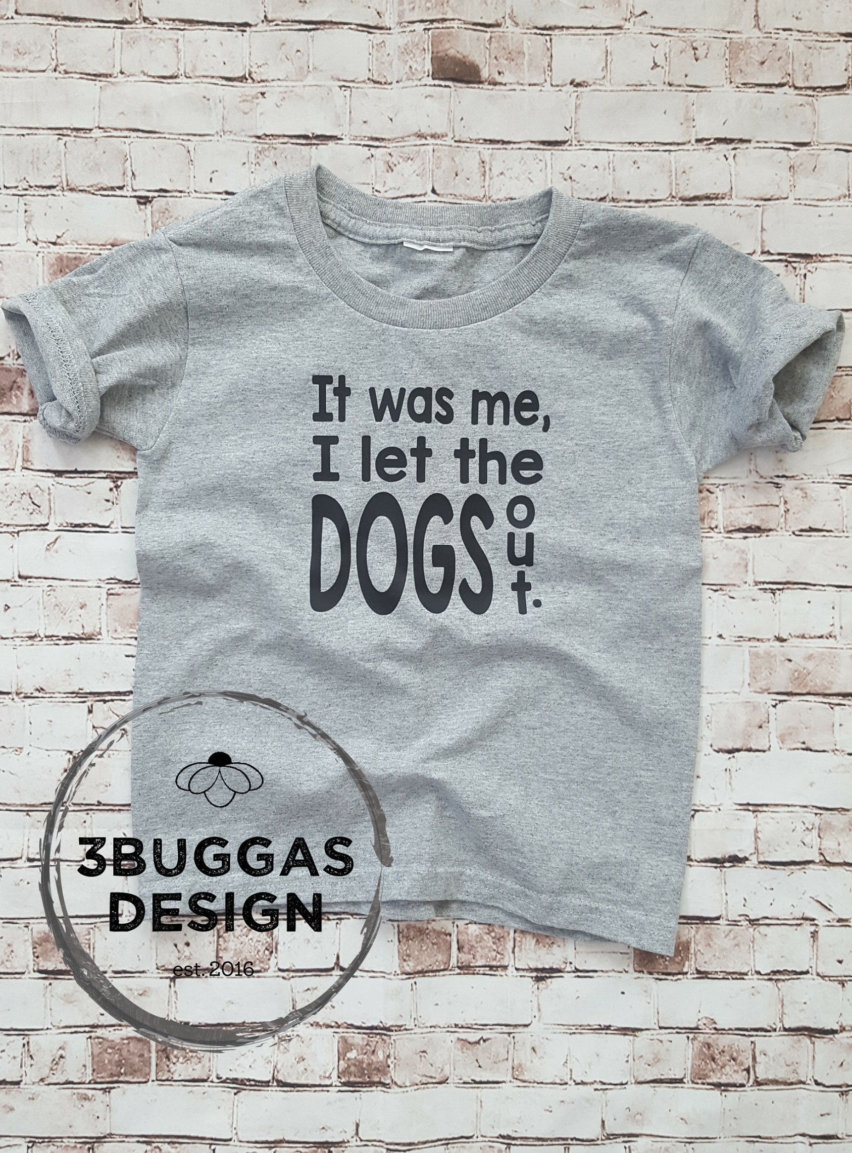 fd86a9a5a8685 I let the dogs out, Funny Toddler Tee, Toddler Girl Birthday Shirt ...