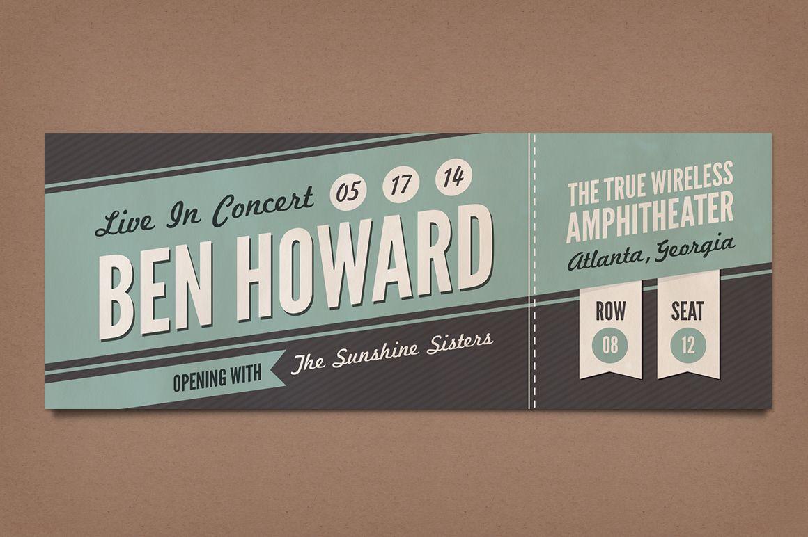concert tickets design – Design Tickets Template