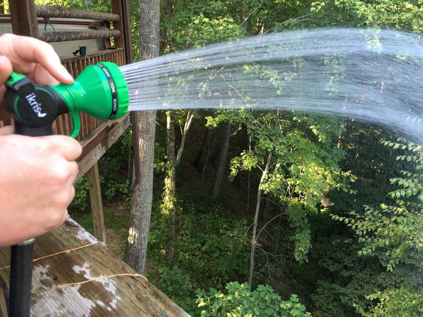 ikris Metal Garden Hose Nozzle 10Pattern NoSqueeze Sprayer
