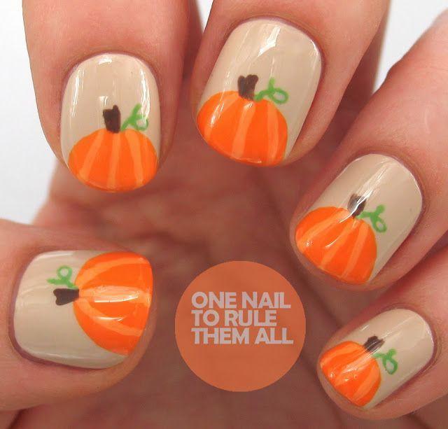25 Pretty Nail Art For Fall Pretty Nail Art Pumpkin Nail Art And Pedi