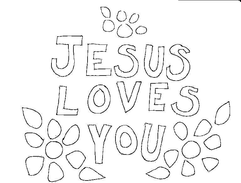 40+ Printable jesus loves me coloring page free download