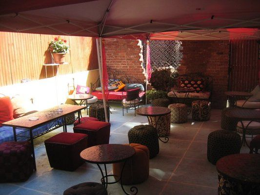 'Disiac Lounge (Hell's Kitchen). The Patio open till 10pm during the week, 11pm in the weekend.