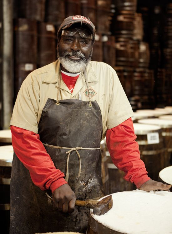 love this portrait; Tabasco factory worker Avery Island