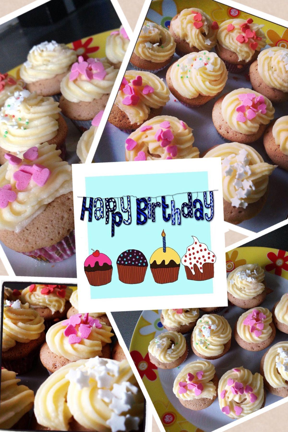 Mini cupcakes die ik voor mijn verjaardag gemaakt heb.